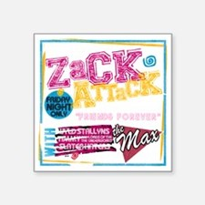 "Zack_Attack_Shirt Square Sticker 3"" x 3"""