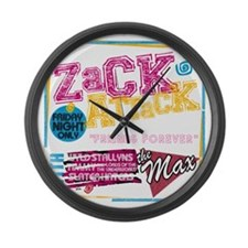 Zack_Attack_Shirt Large Wall Clock