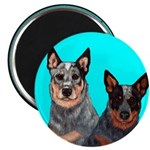 Australian Cattle Dog Pair Magnet