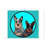 Australian Cattle Dog Pair Postcards (Package of