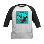 Australian Cattle Dog Pair Kids Baseball Jersey