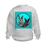 Australian Cattle Dog Pair Kids Sweatshirt