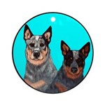 Australian Cattle Dog Pair Ornament (Round)