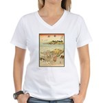 Japanese illustration Women's V-Neck T-Shirt