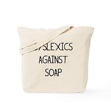 SOPA Dyslexics black Tote Bag