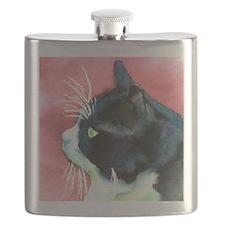 Tuxedo Cat Profile Flask