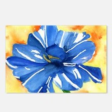 Blue tulip Postcards (Package of 8)