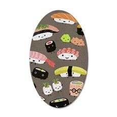 sushipartyCP3g 35x21 Oval Wall Decal