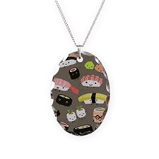 sushislidercase Necklace Oval Charm
