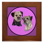 Border Terriers Framed Tile
