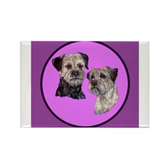 Border Terriers Rectangle Magnet (10 pack)