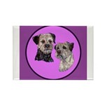 Border Terriers Rectangle Magnet