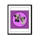 Border Terriers Framed Panel Print