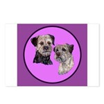 Border Terriers Postcards (Package of 8)