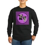 Border Terriers Long Sleeve Dark T-Shirt