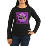 Border Terriers Women's Long Sleeve Dark T-Shirt
