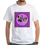 Border Terriers White T-Shirt