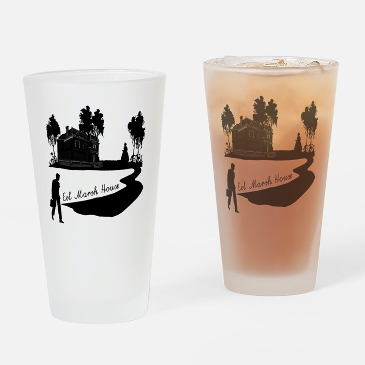 Woman-in-Black Drinking Glass
