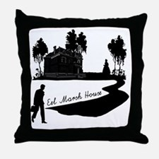 Woman-in-Black Throw Pillow