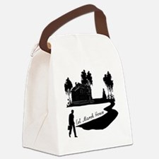 Woman-in-Black Canvas Lunch Bag