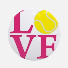 melon2, Tennis LOVE Round Ornament