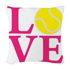 melon2, Tennis LOVE Woven Throw Pillow