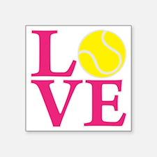 """melon2, Tennis LOVE Square Sticker 3"""" x 3"""""""