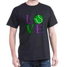 purp-gr, Tennis LOVE T-Shirt