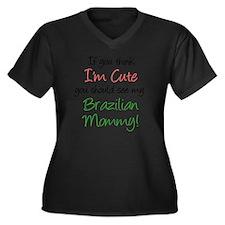 Think Im Cut Women's Plus Size Dark V-Neck T-Shirt