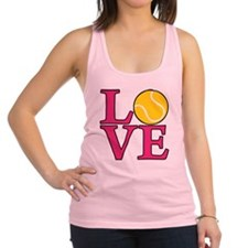melon, Tennis LOVE Racerback Tank Top