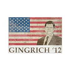 Newt GingrichVintage1 Rectangle Magnet