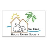 Rabbit in the House Rectangle Sticker