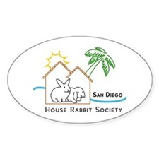 Rabbit in the House Oval Decal