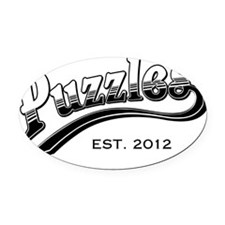 puzzles2 Oval Car Magnet