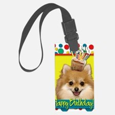 BirthdayCupcakePomeranian Luggage Tag
