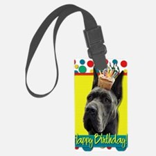 BirthdayCupcakeGreatDaneGrey Luggage Tag