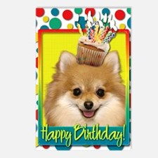BirthdayCupcakePomeranian Postcards (Package of 8)