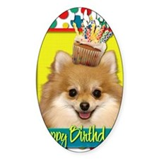 BirthdayCupcakePomeranian Decal
