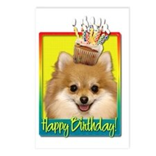 BirthdayCupcakePomeranian Postcards (Package of 8)