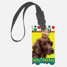 BirthdayCupcakeIrishSetter Luggage Tag