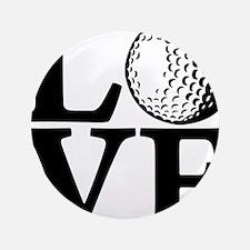 "black, Golf LOVE 3.5"" Button"