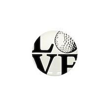 black, Golf LOVE Mini Button
