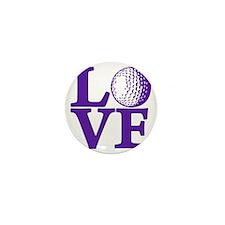 purple, Golf LOVE Mini Button