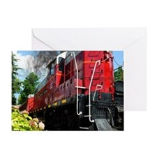 The Great Red Train Greeting Card