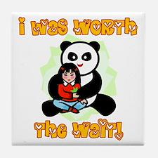 China Adoption I was Worth the Wait! Tile Coaster