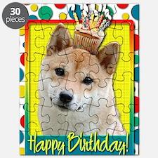 BirthdayCupcakeShibaInuBlonde Puzzle