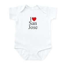 """I Love San Jose"" Infant Bodysuit"