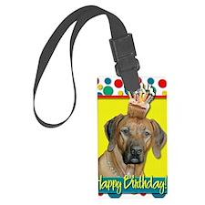 BirthdayCupcakeRhodesianRidgebac Luggage Tag