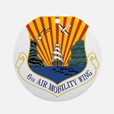6th Air Mobility Wing Round Ornament