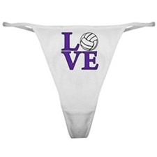 purple, Volleyball LOVE Classic Thong